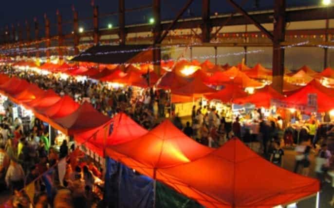 Le marché de nuit Kuala Lumpur