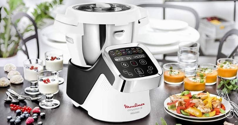 robot cuiseur HF806E10 Moulinex noir