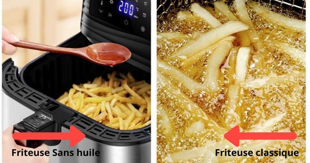 Différence entre Friteuse classique vs friteuse sans huile