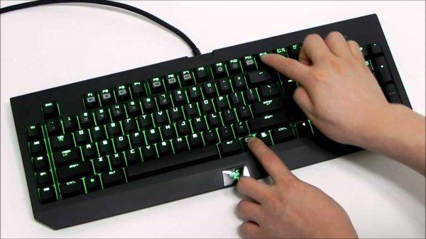 image fantôme du clavier