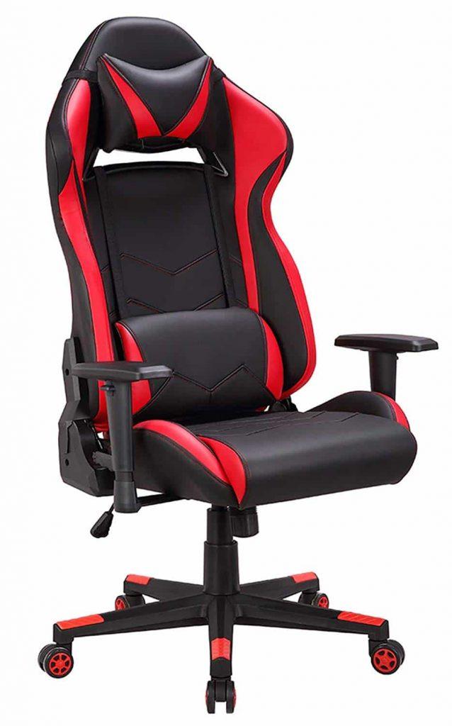 Chaise gaming rouge et noir