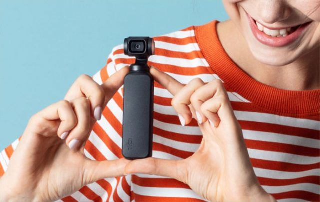 la taille de la caméra Osmo Pocket Dji