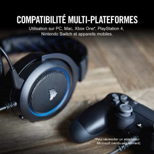 Corsair HS50 Casque Gaming Micro Detachable
