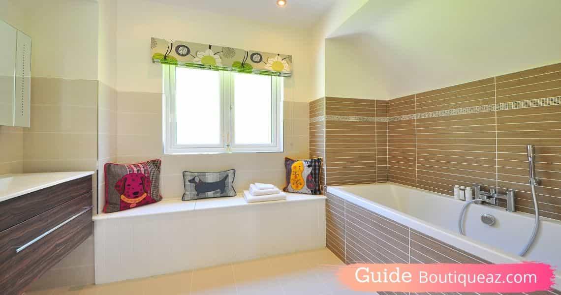 couleur noir et beige salle de bain
