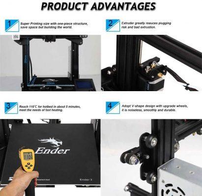 Comgrow Creality Ender 3 imprimante 3d