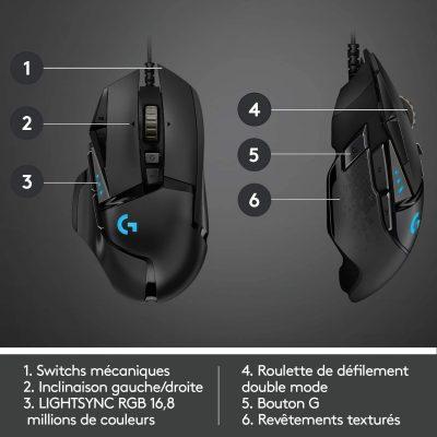 Logitech G502 LightSpeed souris gamer